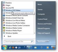 Launch Windows DVD Maker