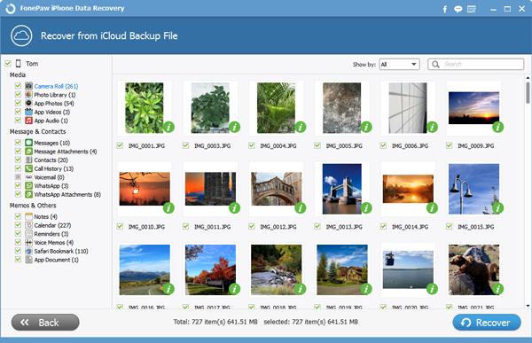 Retrive Videos from iCloud Backup