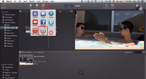 Export iMovie to DVD