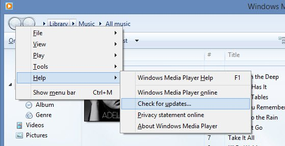 Update Windows Media Player