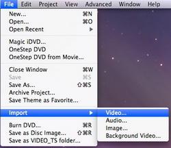Import QuickTime movie