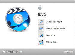 Open iDVD