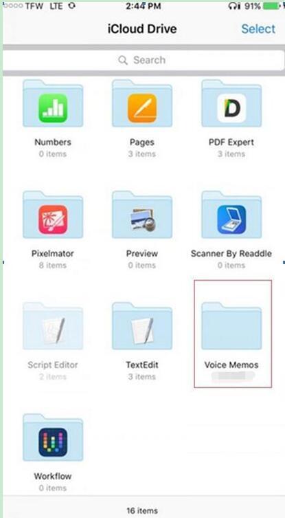 open the iCloud Drive app