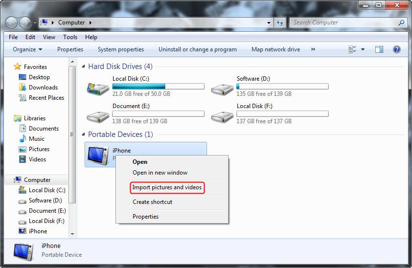 Transfer Photos from iPhone to Samsung via Windows Explorer