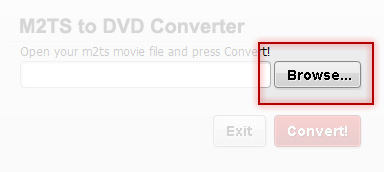 Free M2TS to DVD Converter - Add M2TS file