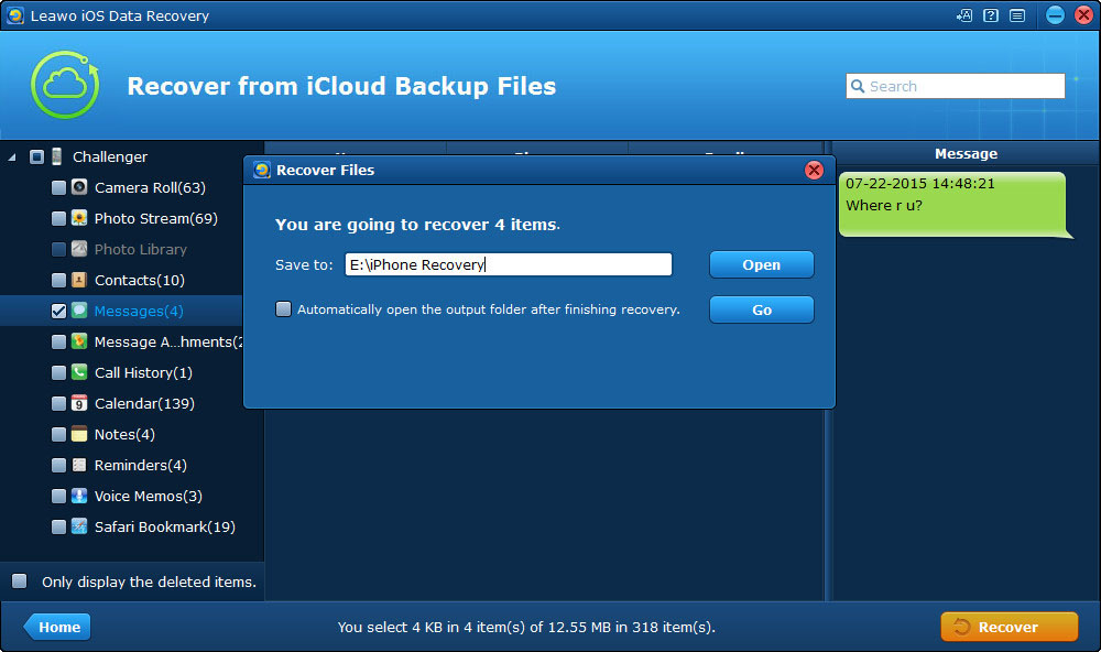 extract files from iCloud backup