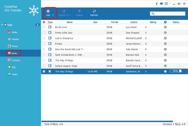 transfer PDF files to iPad