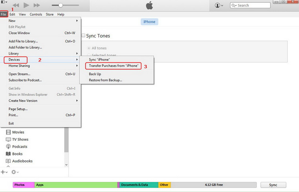 how-to-transfer-ringtone-from-iphone-to-iphone-using-itunes-transfer-purchases-3