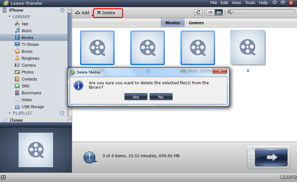 Select iPad Movies to Delete