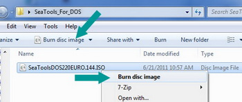 Copy and paste ISO file to disc
