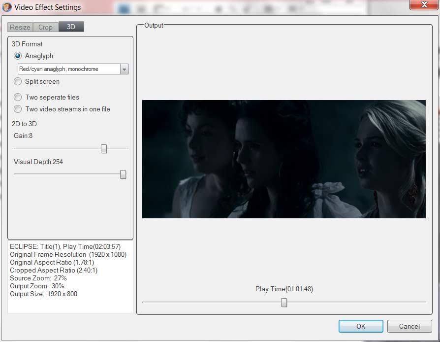 dvdfab-to-set-3D-effect