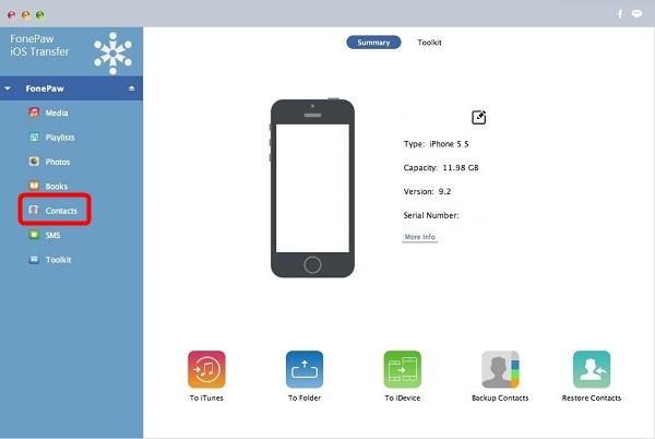 run iOS Transfer for Mac