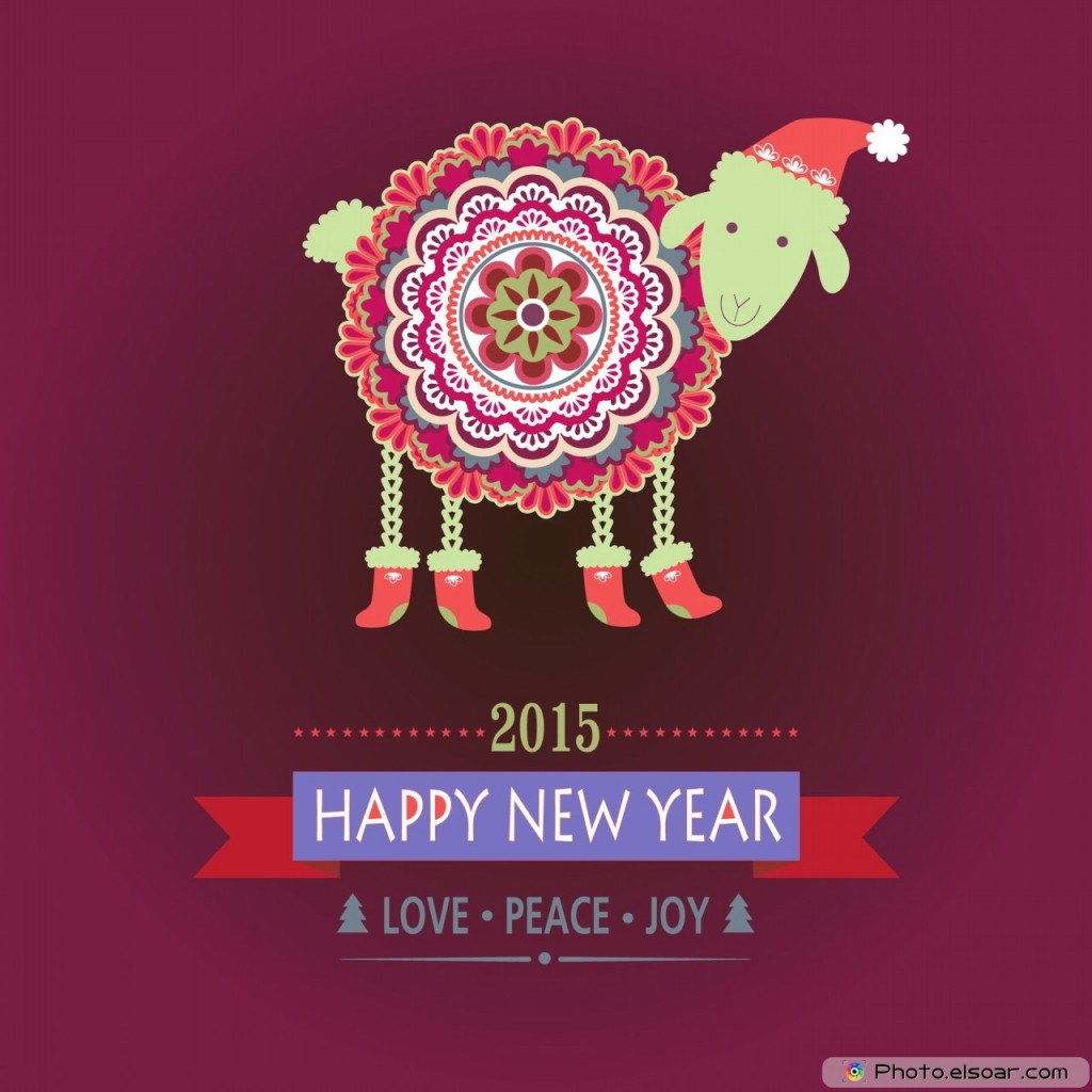 Wallpaper iphone new year - Year Of Sheep 2015