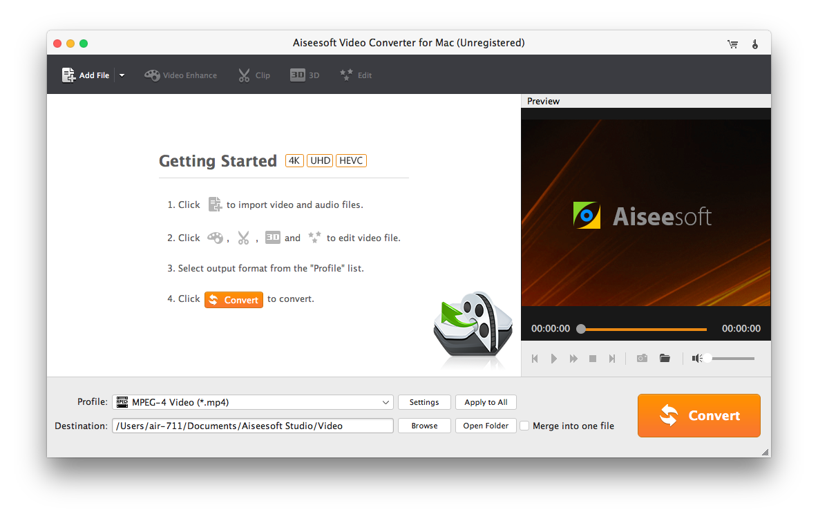 Extract audio from any video on Mac - Bigasoft Audio Converter for Mac