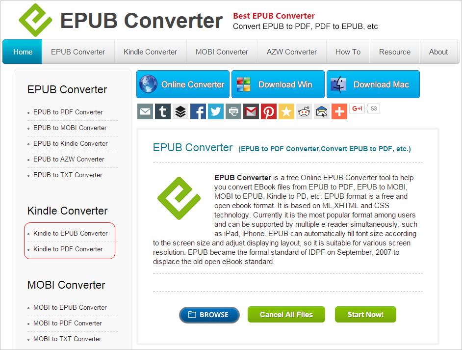 epub to mobi converter kindle