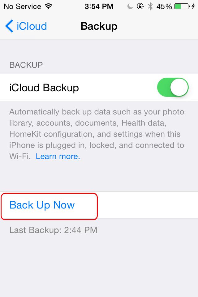 Backup iPad to iCloud