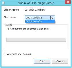 Select disc burner
