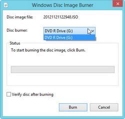 Select disc burner