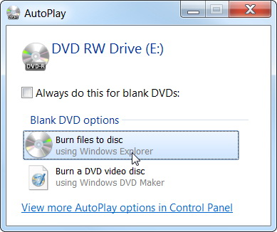 How to write cd image to dvd