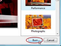 Burn photo slideshow