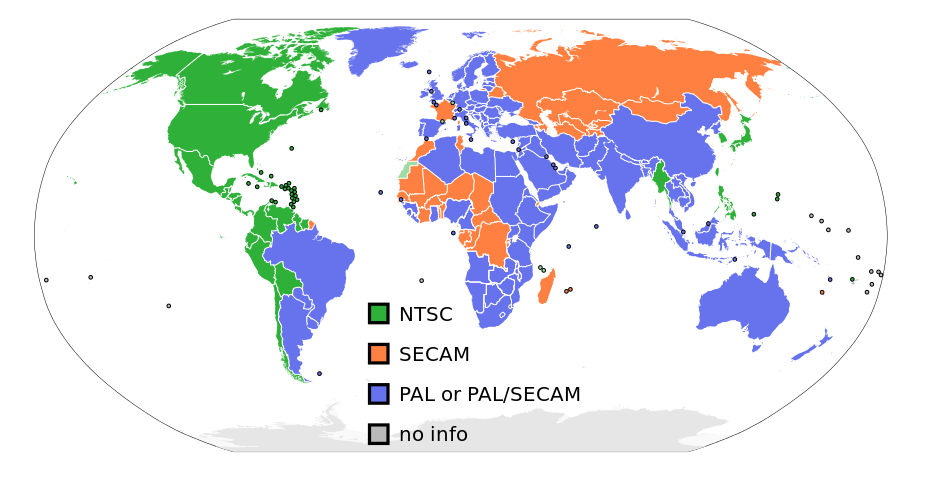 PAL and NTSC distribution