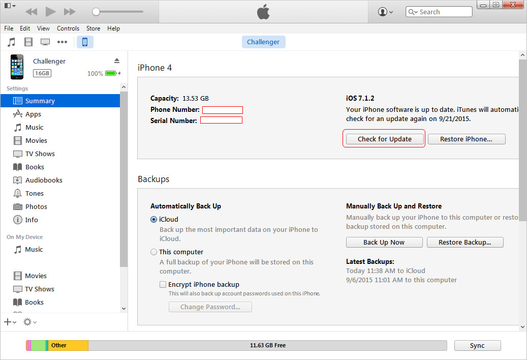 Updating iphone apps from itunes