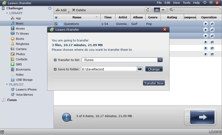 How to Transfer iPhone Data via Leawo iTransfer-04