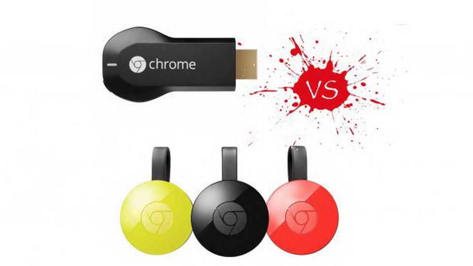 Google Chromecast VS Google Chromecast 2