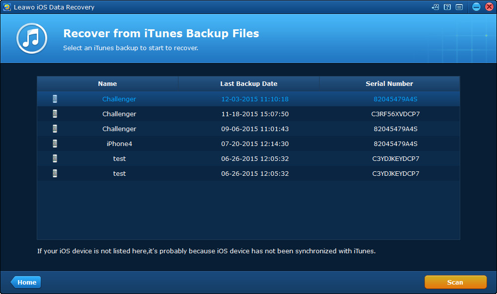 Restore iPhone Backup from iTunes