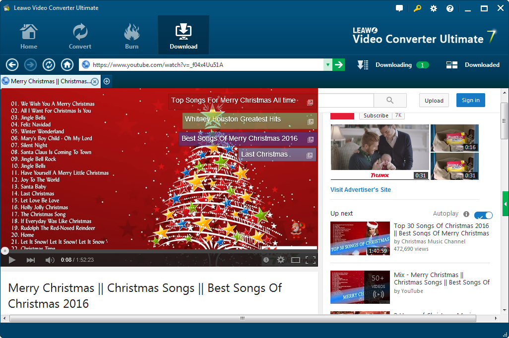 how to download christmas songs from youtube with youtube downloader - Best Christmas Songs Youtube
