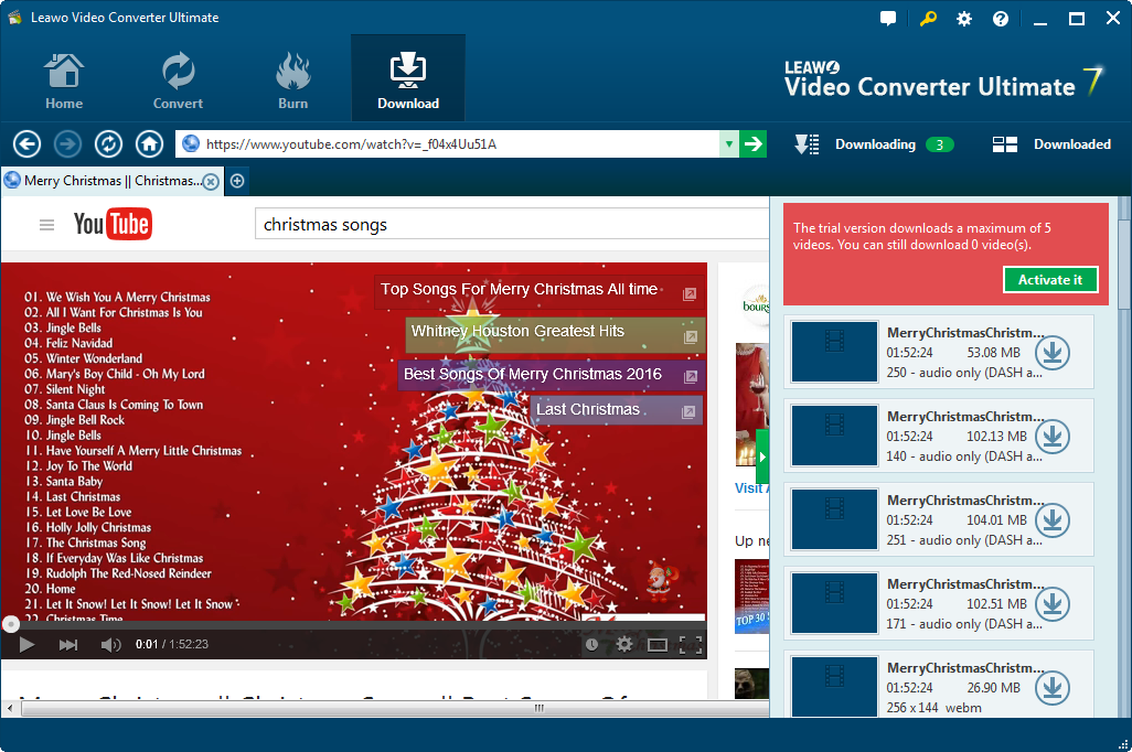 How to Download Christmas Songs from YouTube | Leawo Tutorial Center