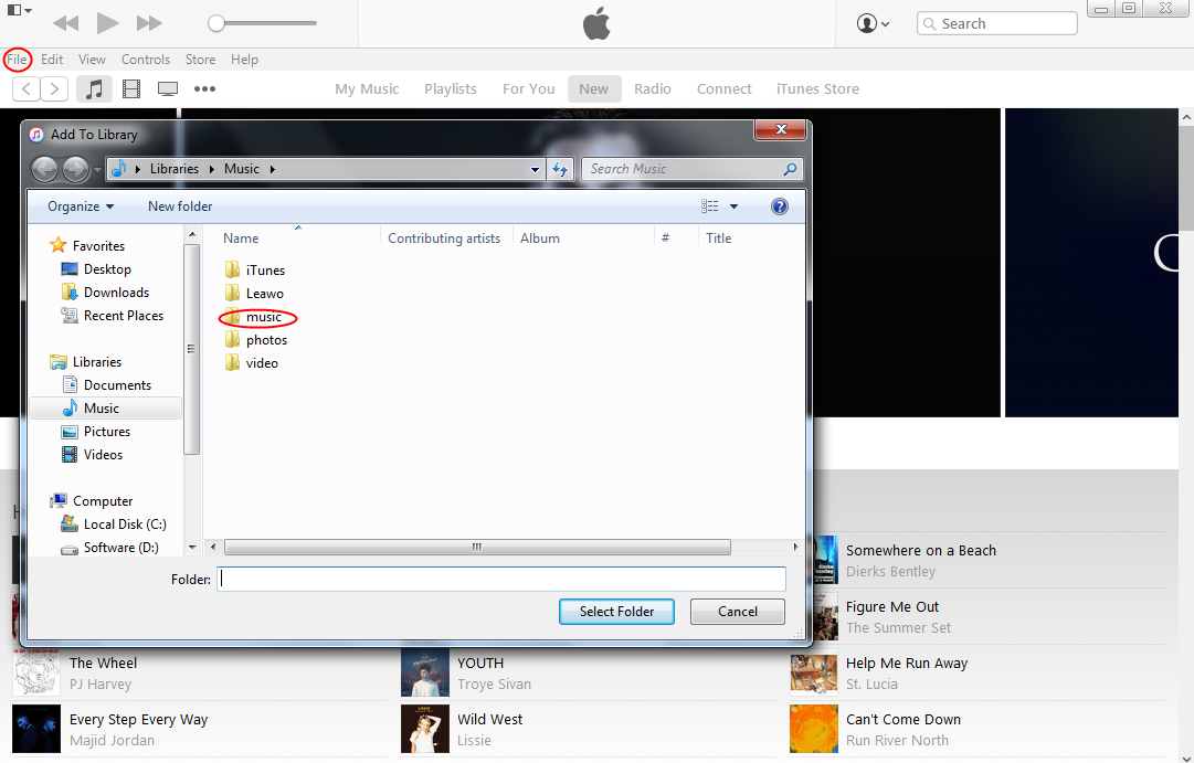 Manually Transfer Android Music to iTunes