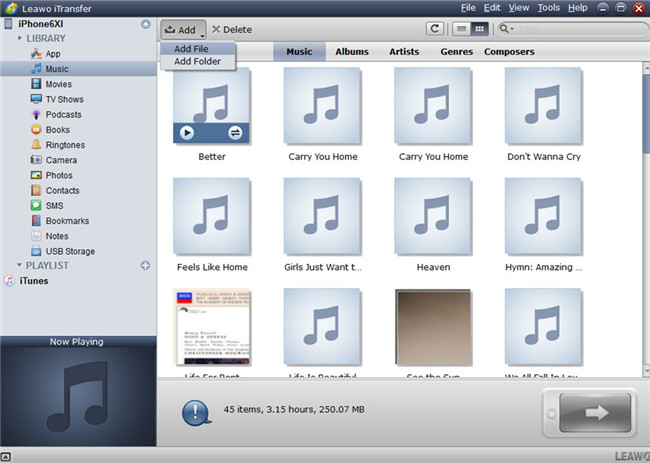 how-to-transfer-music-from-ipod-to-iphone-with-leawo-itransfer-add-file-8