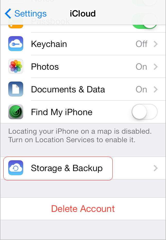 Tap Storage &.Backup