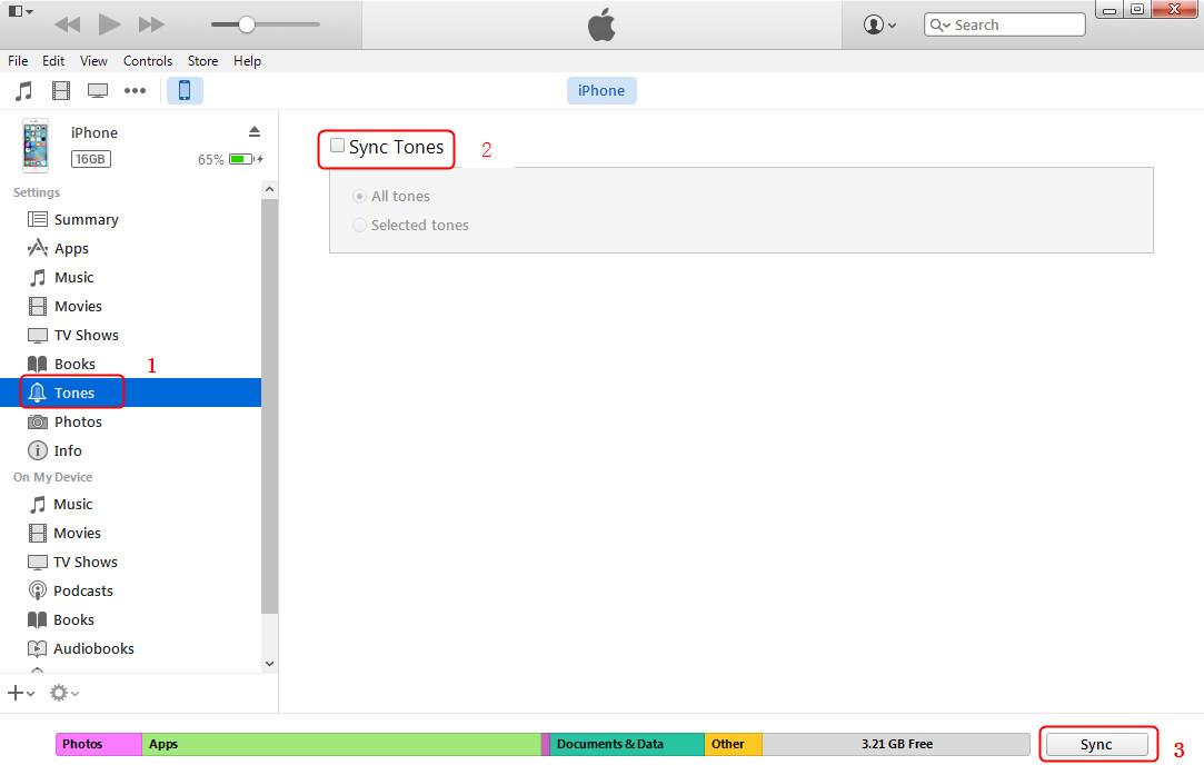 Add Ringtones to iPhone via iTunes