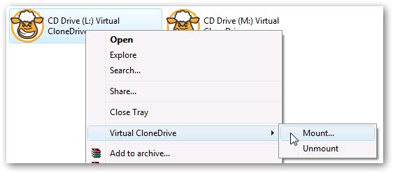 Free virtual CD/DVD drive creator