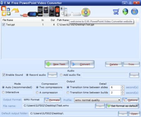 em free powerpoint video converter mac