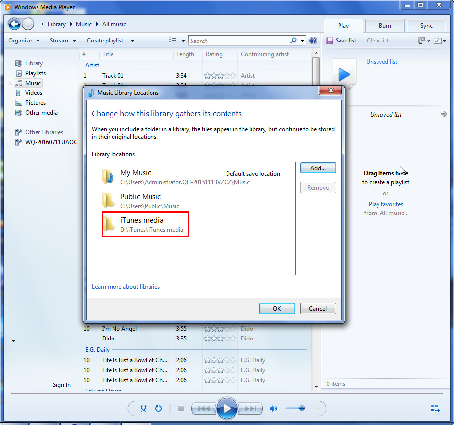 How to Transfer Music from iTunes to Windows Media Player ...