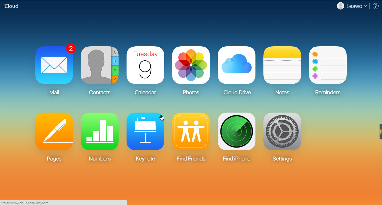 Access iCloud Backup via iCloud