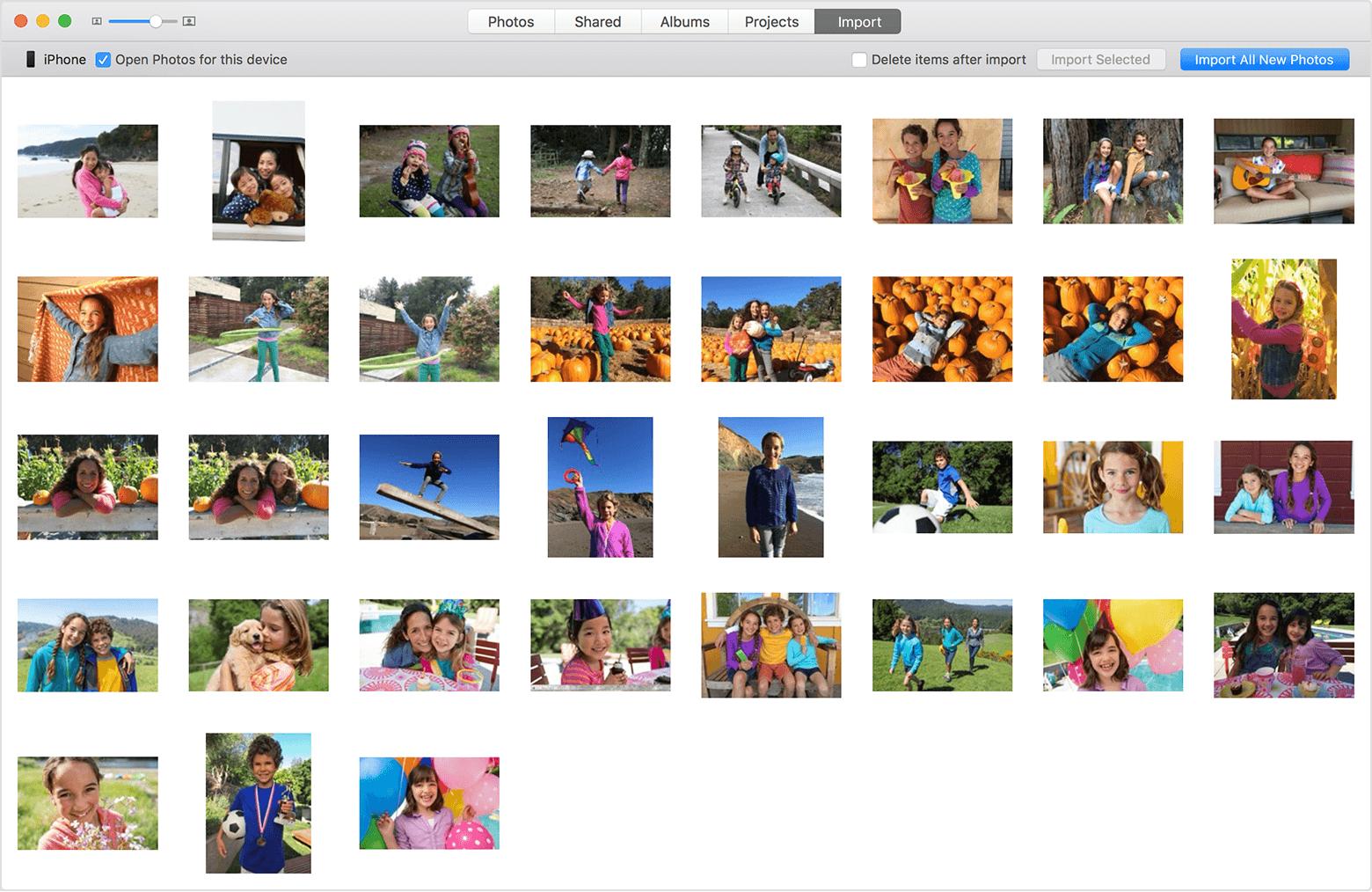 import iPhone photos to iPhoto's alternative