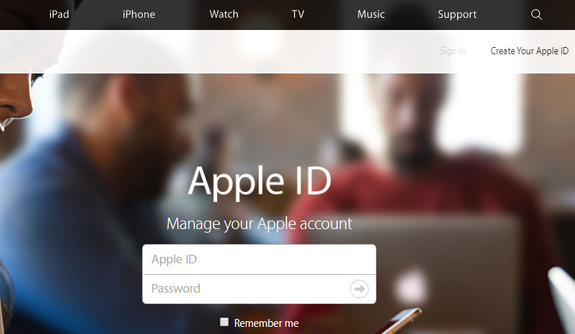 enter your current Apple ID
