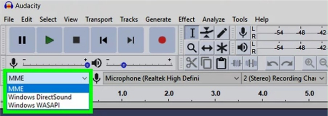 How to Record Audio from Computer with Audacity mme-8