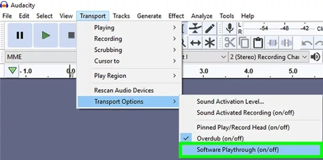 How to Record Audio from Computer with Audacity software playthrough-6