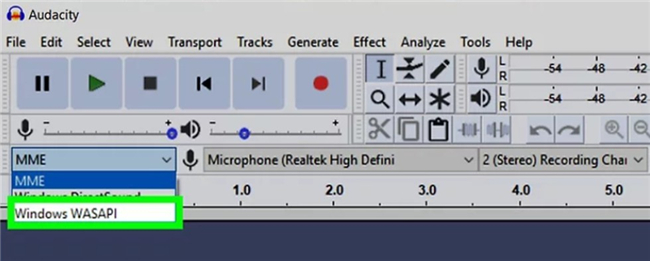 How to Record Audio from Computer with Audacity wasapi-4