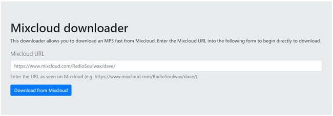 Mixcloud-downloader