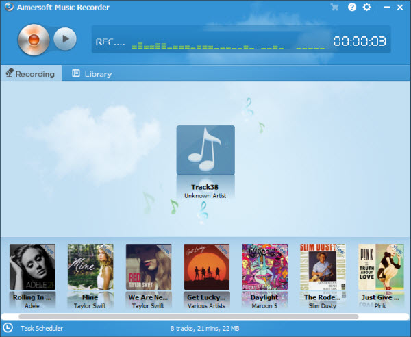 Run Aimersoft Music Recorder