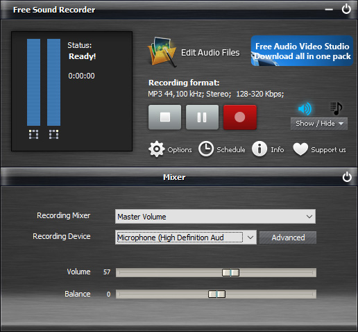 Select Recording Source