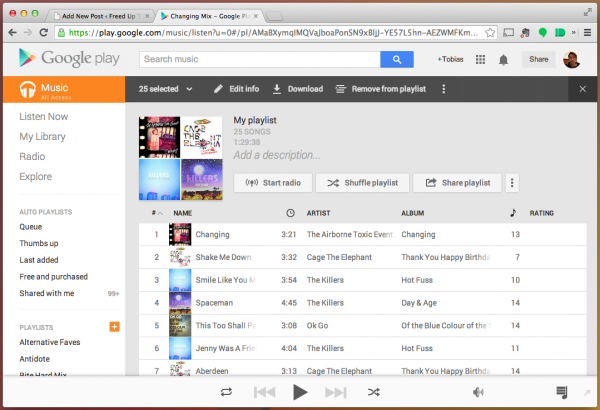 how to download one song on google play