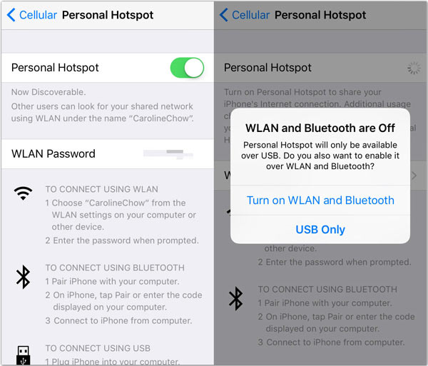 How to set up a Personal Hotspot on your iPhone or iPad ...