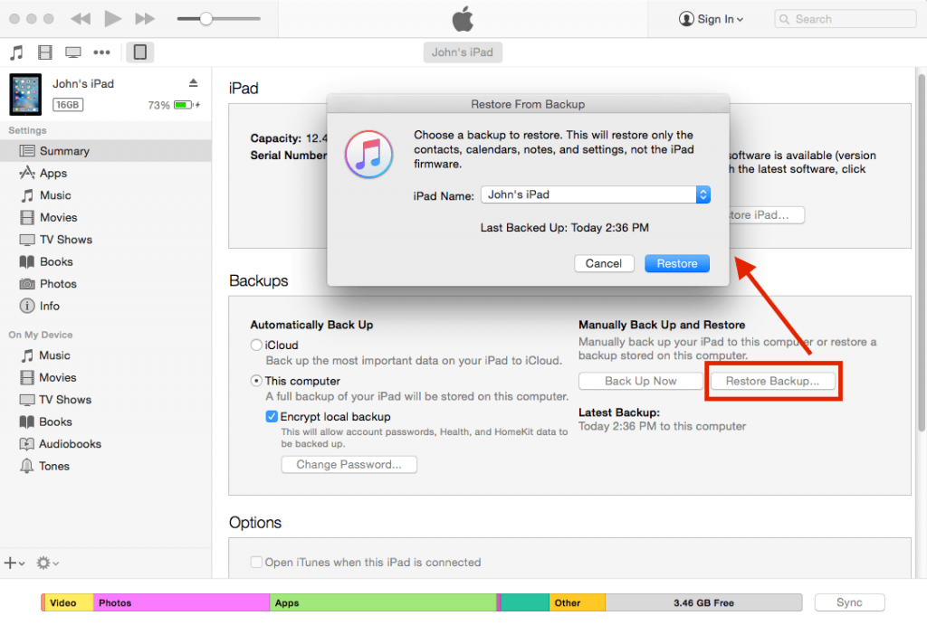 exit recovery mode through itunes